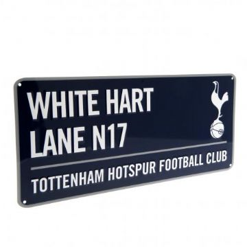 Tottenham Hotspur White Hart Lane Metal Street Sign (Navy)
